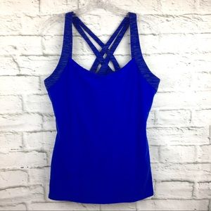 Lucy Large strappy criss Cross athletic tank